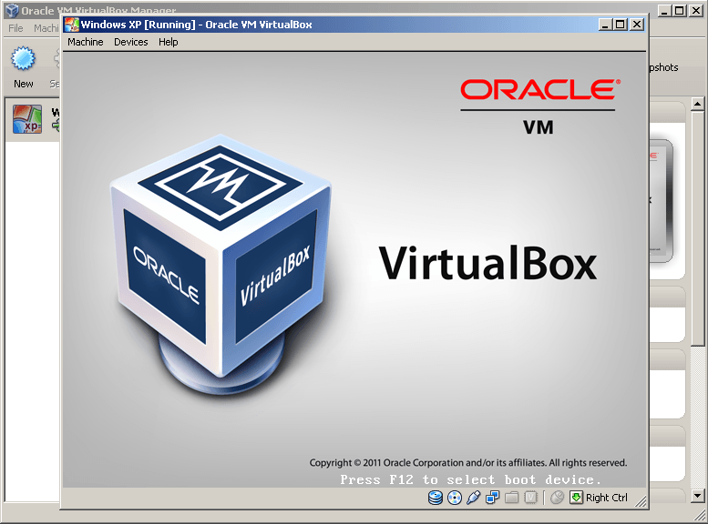 Running Virtual Machine