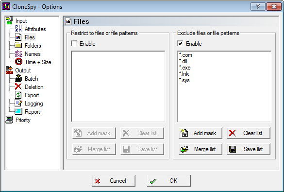 File Filters