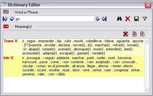 Dictionay editor