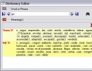 Dictionay editor