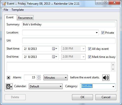 Adding New Event