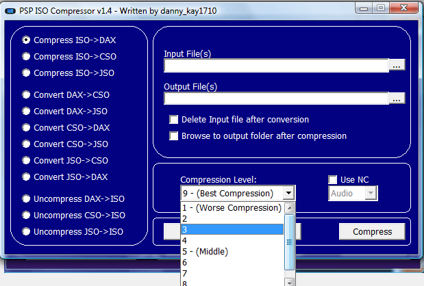 PSP ISO Compressor 1 4 H33T 1981CamaroZ28 preview 1