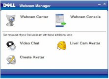 Programs included shown on Webcam Manager