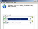 Wireless Network Search