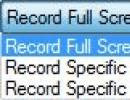 Record area