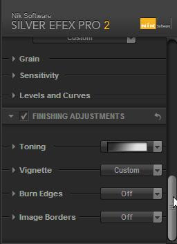 Adjustment menu