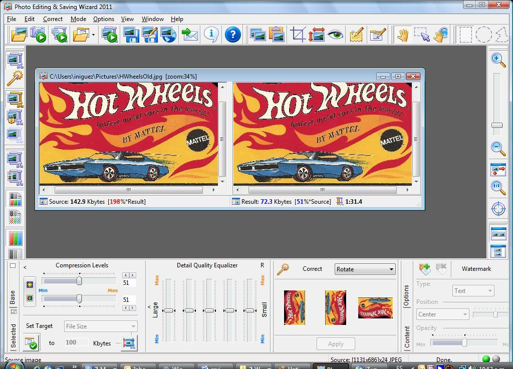 Photo Editing & Saving Wizard full screenshot