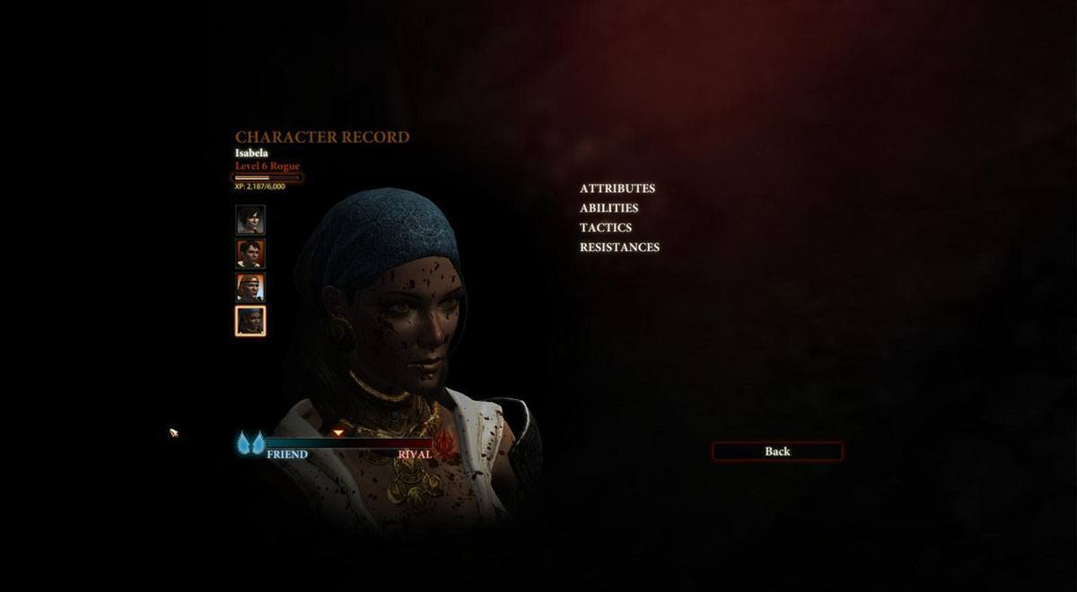 Character record