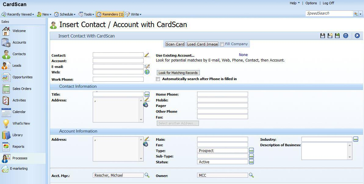 Cardscan Software