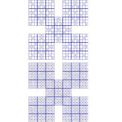 Medium Samurai Sudoku