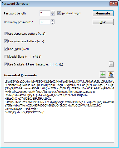 Integrated Password Generated Tool