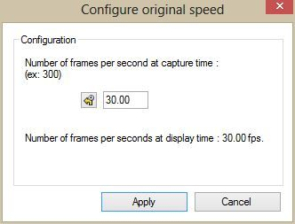 High-speed camera settings