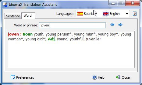 Word and phrase translator