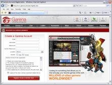 Register Web page