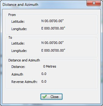 Distance and Azimuth