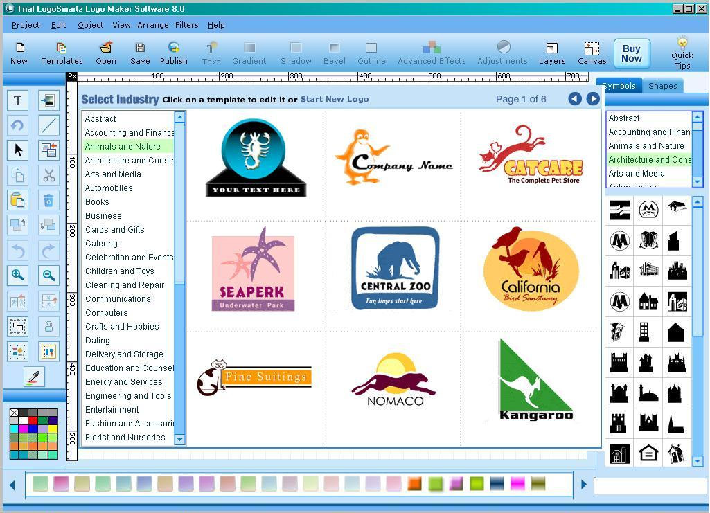 Logosmartz Logo Maker Software Software Informer Screenshots