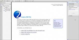 The Create PDF Menu