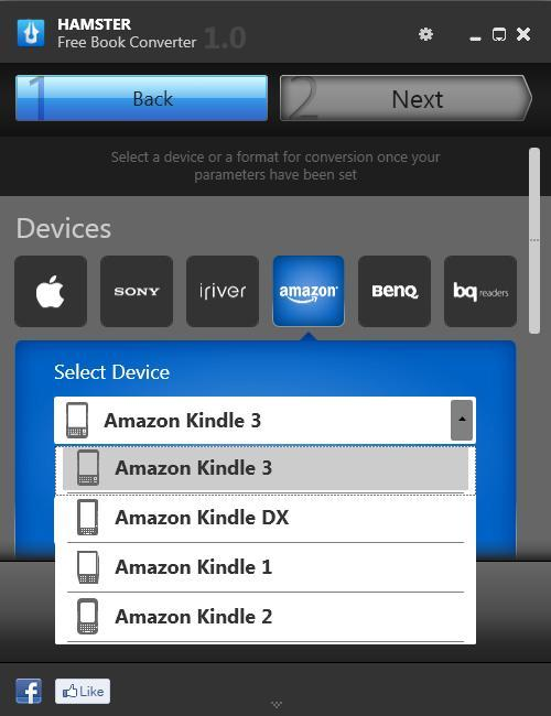 Device/Format Selection