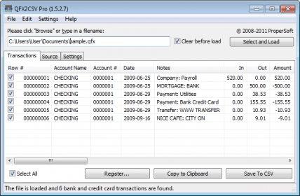how do i convert qfx to pdf