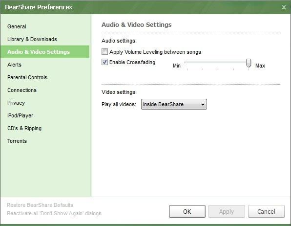 Audio Video Settings