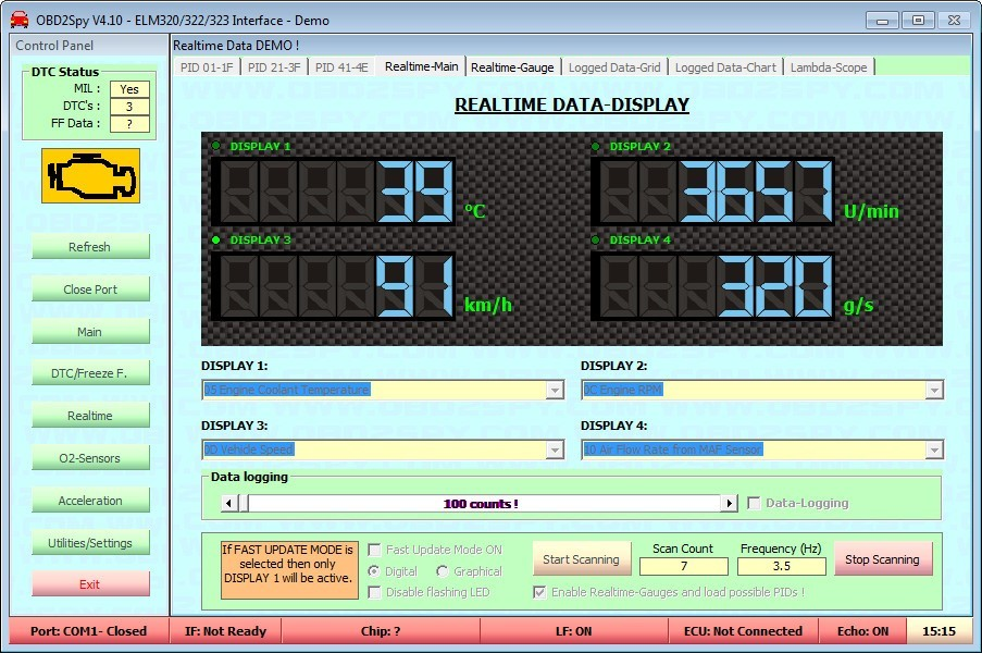 Real-Time Parameters