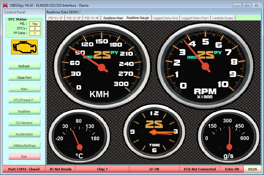 Gauges Window