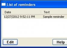 List of Pending Reminders