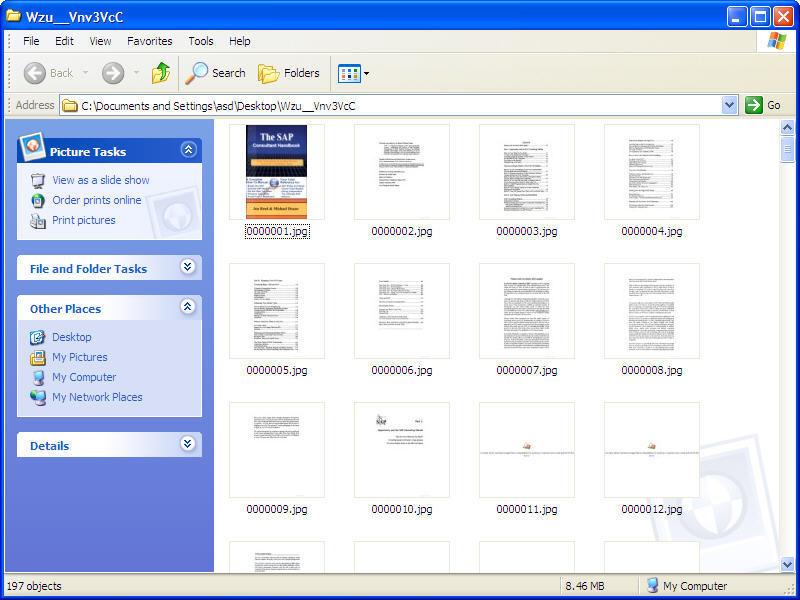 Book saved as .jpg files