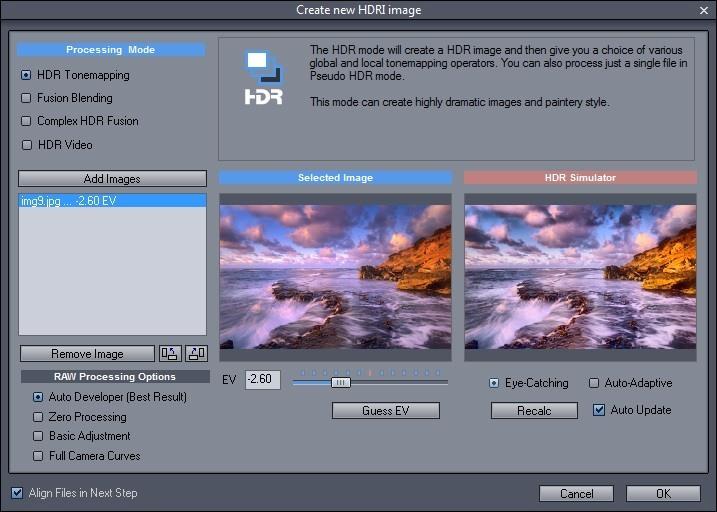 Create New HDRI Image