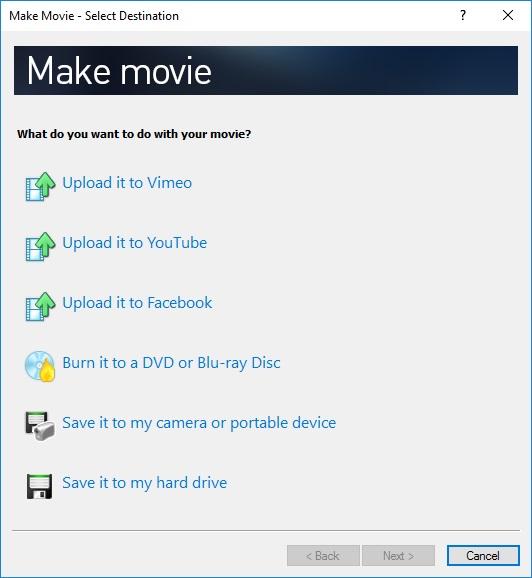 Make Movie Menu