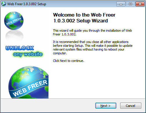 Web Freer - Software Informer. A web browsing application that ...