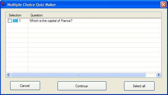 multiple choice quiz maker