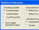 Statistics preferences