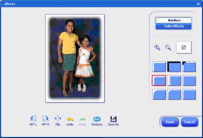 Effects window