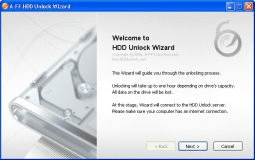 Unlock Wizard start window