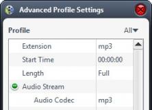 Advanced Settings For Output File
