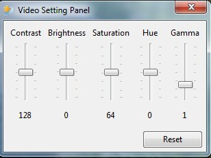 Video Setting Panel