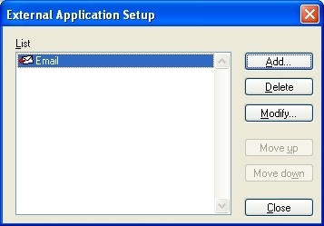 External application setup