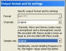 Output Settings Customization