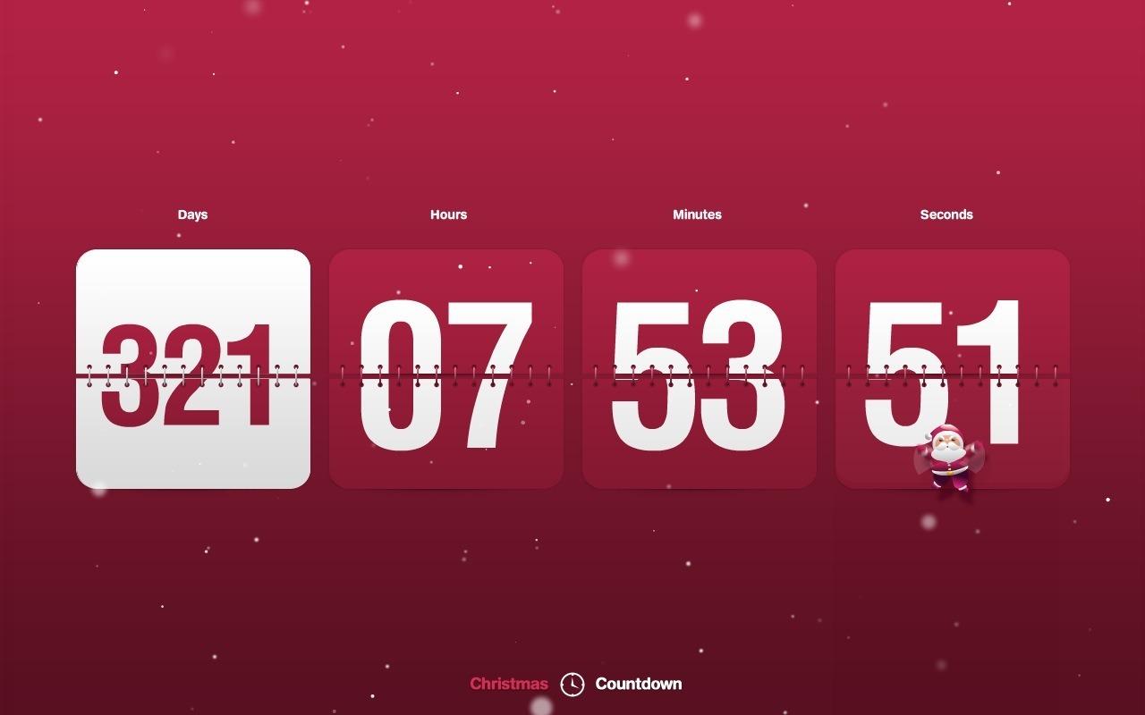 New Year Countdown & Clock screensaver 1.0 : Chirstmas countdown
