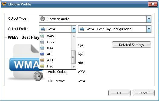 Output Audio Formats
