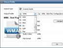 Output Audio Formats