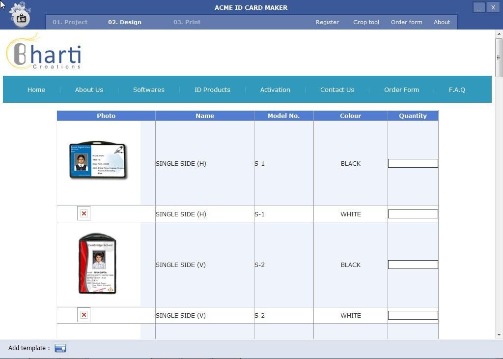 acme id card maker software informer screenshots