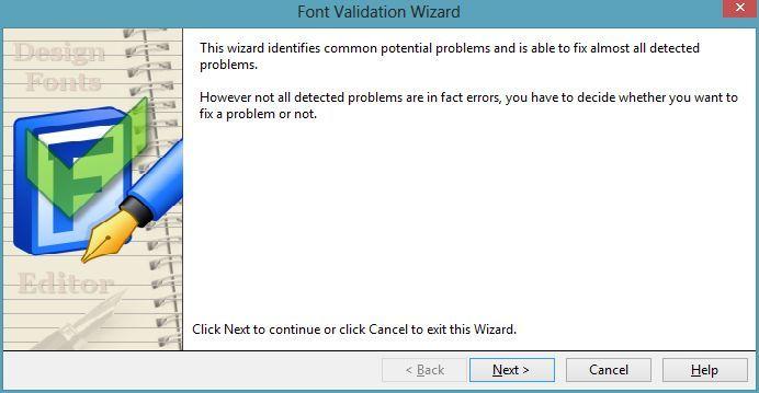Font Validation Wizard