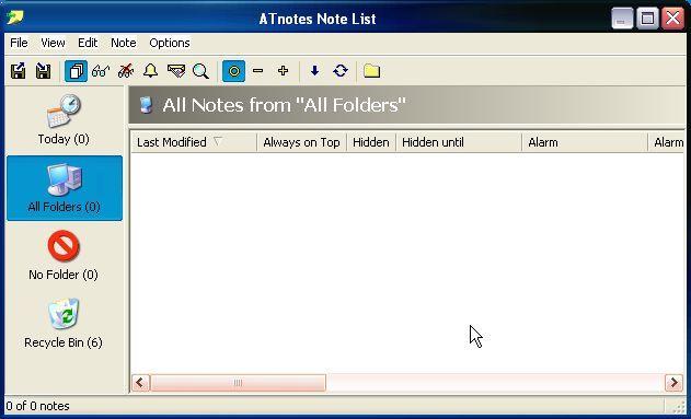 ATnotes List