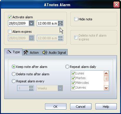 ATnotes Alarms