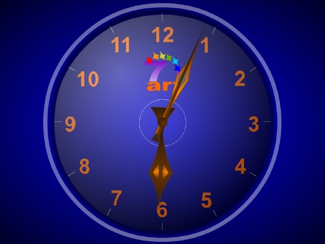 7art Standard Clock 169 2008 By 7art Screensavers Com