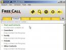 Main window - contacts tab