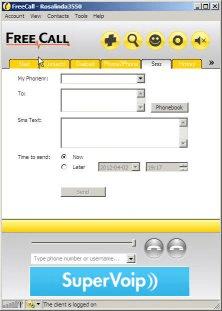 Main window - sms tab
