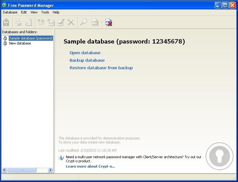 Database and Folders List